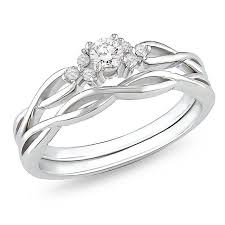 wedding ring sets for him and cheap affordable diamond infinity wedding ring set in 10k white gold