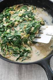 gluten free recipe with vegan creamed spinach and leeks