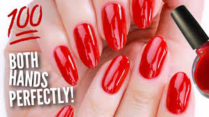 Paint by Paint Your Other Hand U0027s Nails Perfectly Youtube