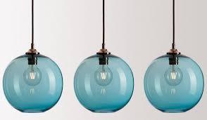 Blue Glass Pendant Light Fabulous Colorful Pendant Lights 10 Easy Pieces Colorful Glass