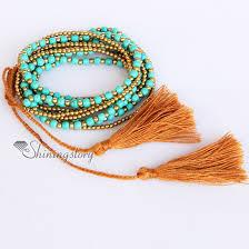 multi bracelet images Beaded tassel bracelet beaded wrap bracelets turquoise semi jpg