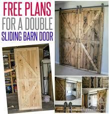 diy double barn door plans double barn doors free woodworking