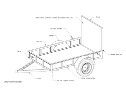 red wing steel works 5x8 utility trailer plans assembled jpg 1650