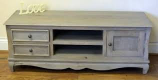 bourdeilles solid mango shabby chic vintage plasma tv bench