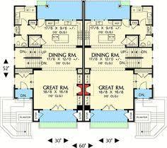 Family Home Plans Plan 69111am Hillside Multi Family Home Plan Metal Deck Railing