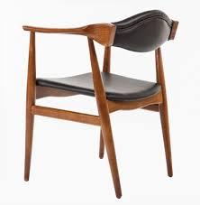 Danish Leather Armchair Aline Leather Danish Mid Century Dining Arm Chair Danish Chairs