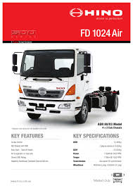 hino 700 series ss 2848 amt air spec sheet by justin edwards issuu