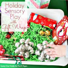 christmas gift wrap christmas gift wrap sensory bin