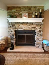 diy fireplace refacing stone make an easy fireplace refacing