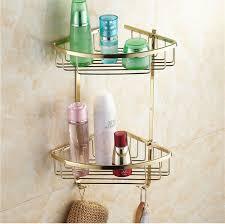wall mounted gold copper bathroom soap basket bathroom corner