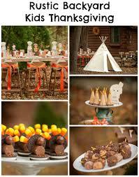 thanksgiving kid desserts rustic backyard kids thanksgiving party creative juice