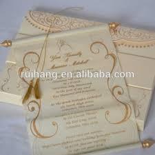 scroll wedding invitations handmade stylish unique scroll wedding invitations card buy