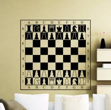 Cool Chess Boards by Aliexpress Com Buy Chessboard Decal Chessmen Checkerboard Wall
