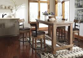 Counter Height Dining Room Chairs Pine Counter Height Dining Table Set Antique Pine Metal 5 Piece