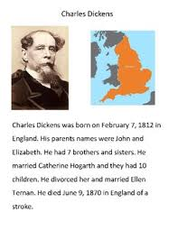 charles dickens biography bullet points modified materials charles dickens biography by room 7 fun tpt