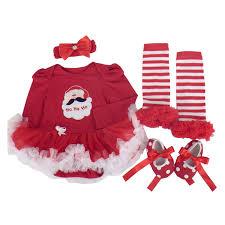 santa claus costume for toddlers amazon com babypreg baby girls my first christmas santa costume