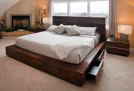 Bedroom Contemporary Decorating Ideas - sensational reclaimed wood platform bed decorating ideas images in