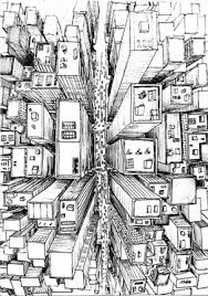 1 point city drawing perspective pinterest city drawing