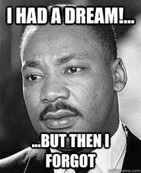 Martin Luther King Jr Memes - i had a dream but then i forgot martin luther king