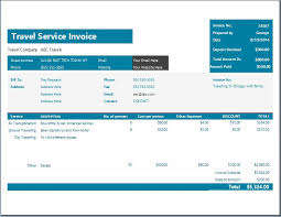 Microsoft Excel Receipt Template Ms Excel Travel Service Invoice Template Word Excel Templates
