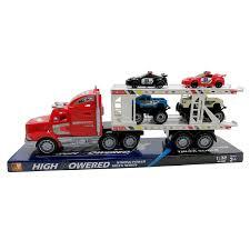 semi truck hauler police cars monster trucks