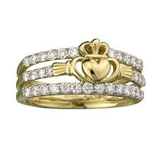 claddagh engagement ring fallers claddagh rings 14k gold diamond claddagh ring fallers