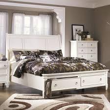 ashley storage bed signature design by ashley prentice white sleigh storage bed