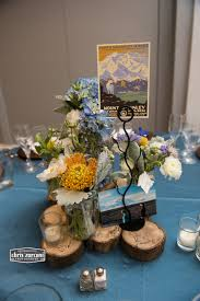 theme centerpiece national park theme centerpiece flowers by blooms photo by