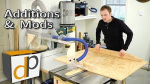 Table Saw Dust Collection by Updated Table Saw Overarm Dust Collector U0026 Cross Cut Sled Youtube