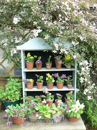 primintive shelving for garden pots projects pinterest