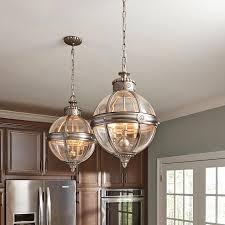 3 Pendant Light Fixture Uk by Adams Pendant Chandelier 3 Light Globe Lantern Antique Nickel