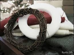 rustic silk simple burlap wreaths