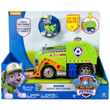 paw patrol rocky u0027s lights sounds recycling truck vehicle
