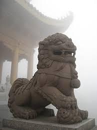 lion dog statue komainu