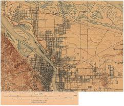 Oregon Google Maps by 1897 Portland A Railroad Where The Banfield Now Runs And Not
