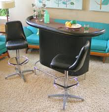 chromcraft dining room furniture chromcraft vintage bar and two stools in excellent condition