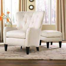 ottomans wing chair and ottoman slipcovers black aniline ikea