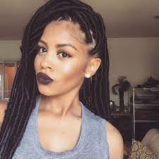 faux dreads with marley hair faux dreadlocks black braided hairstyles with extensions