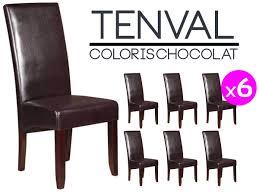 lot de 6 chaises salle à manger tenval lot de 6 chaises marron altobuy fr