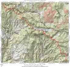 Red River Gorge Map Virgin River Rim Trail