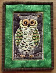 sew annie sew eva owl lino printing