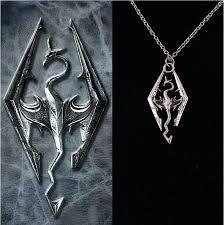 dragon necklace skyrim images The elder scrolls logo pendant charm skyrim dragon necklace chain jpg