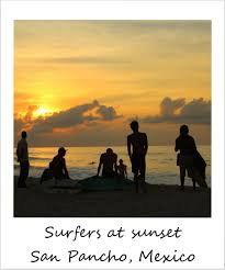 San Pancho Mexico Map by Polaroid Of The Week Sunset And Surfers In San Pancho Mexico