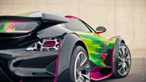 citroen sports car citroen survolt art car created by francoise nielly autoevolution