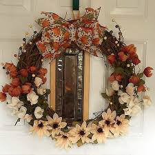 ribbon wreaths autumn grapevine wreath with ribbon wreaths by jenn