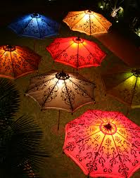 Custom Patio Umbrellas Lighting Up The Patio Umbrellas Patios And Lights