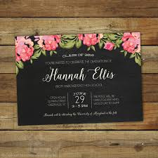 2017 graduation invitation floral graduation open house