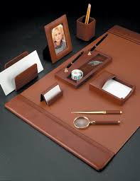 Desk Sets For Office Leather Conference Sets Leather Conference Pad Set