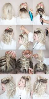 hair tutorial half up hairstyles for short hair hacks tutorials