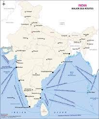 map world seas major sea routes map sea routes of india
